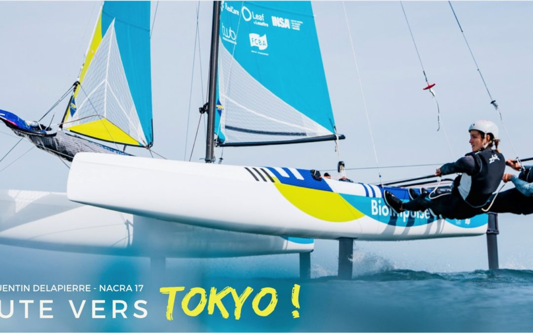 Manon and Quentin will represent France in the Nacra 17 category for the 2020 Olympics in Japan!